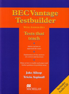 BEC Vantage Testbuilder with answer key + audio CD