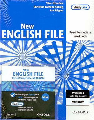 New ENGLISH FILE Pre-intermediate Workbook + MultiROM pack