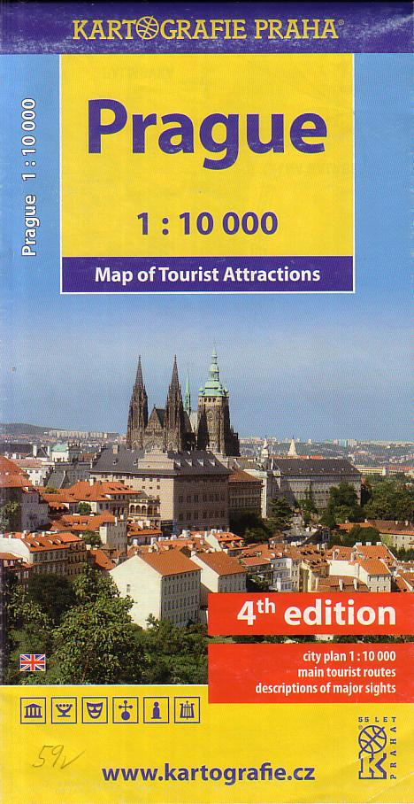Prague - Map of Tourist Attractions, 4.v